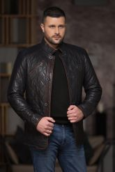 Утепленный стеганный мужской пиджак. Фото 5.