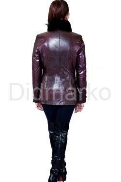 Элегантная куртка с воротником из меха норки