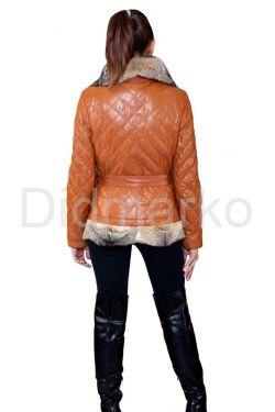 Рыжая куртка с мехом аргентинской лисы