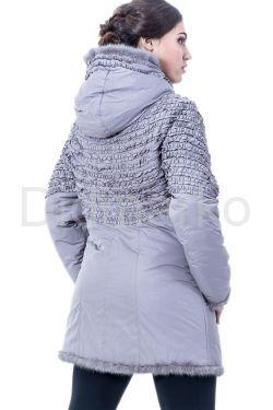 Удлиненная куртка жемчужного цвета