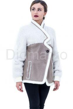 Молодежная дубленка-пиджак