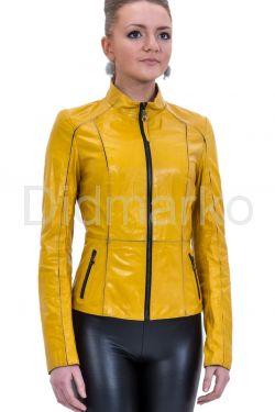 Утягивающая кожаная куртка со стрейч