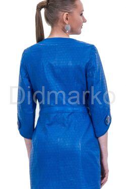 Стильный перфорированный кожаный плащ с укороченным рукавом