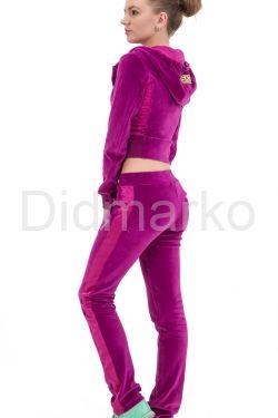 Модный молодежный спортивный костюм фиолетового цвета
