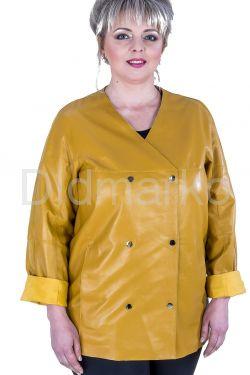 Весенний кожаный пиджак