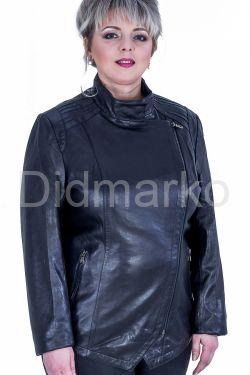 Черная кожаная куртка больших размеров