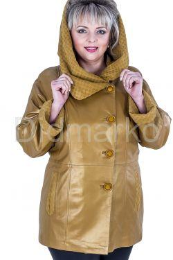 Красивая кожаная куртка больших размеров