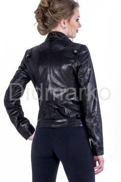 Черная кожаная куртка-косуха
