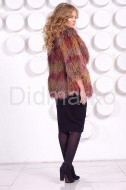 Оригинальный пиджак из вязаной лисы