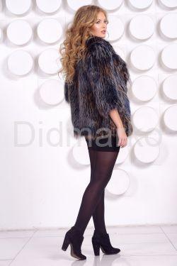 Стильная шубка из вязаной лисы