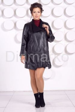 Кожаная куртка больших размеров BAYAN