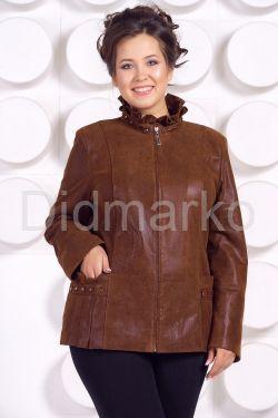 Замшевая кожаная куртка больших размеров GILLA