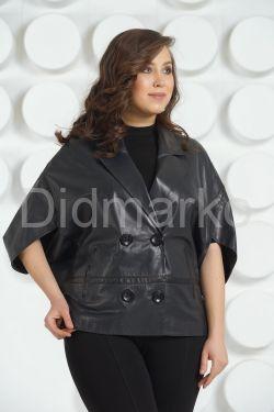 Весенняя кожаная куртка-жилет