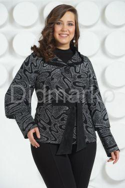 Кожаный пиджак с лазерной обработкой