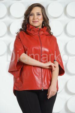 Красная кожаная куртка для женщин