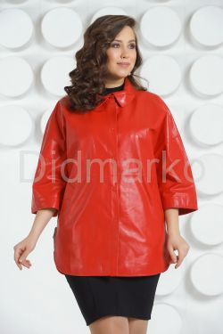 Кожаная куртка большого размера
