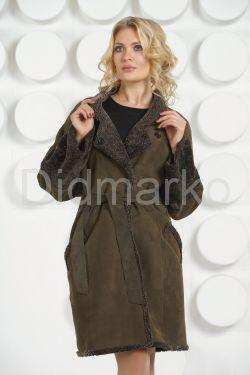 Женская дубленка с мехом керли