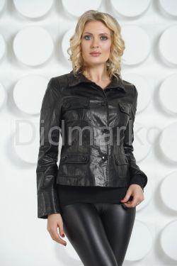 Молодежный кожаный пиджак