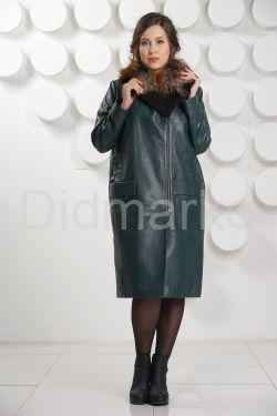 Роскошное итальянское кожаное пальто