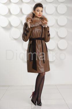 Кожаное пальто с подстежкой