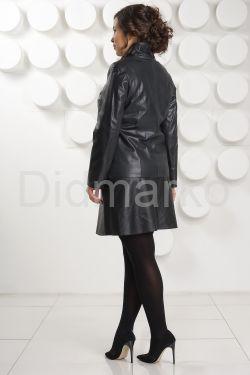 Кожаная куртка косуха на молнии больших размеров