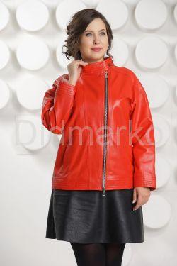 Кожаная куртка цвета гранатового цветка