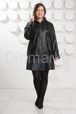 Кожаная куртка с капюшоном Milan