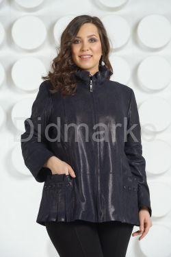 Куртка из замши синего цвета