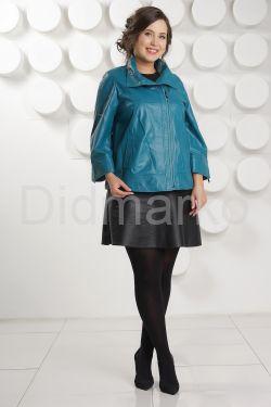 Весенняя кожаная куртка больших размеров DM
