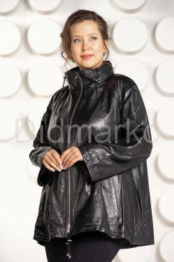 Трапециевидная кожаная куртка
