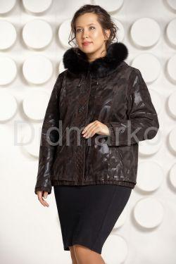 Куртка из замши больших размеров