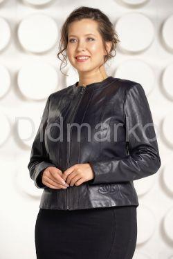Короткая кожаная куртка для женщин