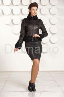 Кожаная куртка с мехом DMG5