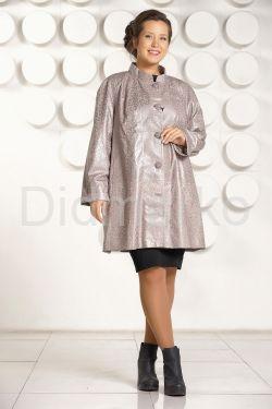 Трапециевидная кожаная куртка больших размеров