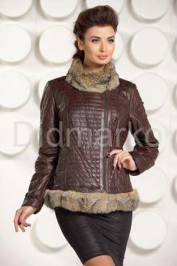 Кожаная куртка с мехом DMA287-5