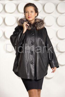 Зимняя кожаная куртка больших размеров
