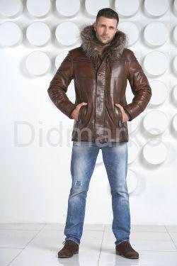 Удлиненная мужская дубленка