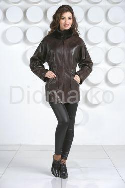 Терракотовая женская кожаная куртка