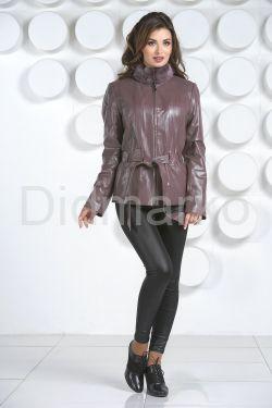 Кожаная куртка с мехом норки-1