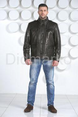 """Мужская кожаная куртка в стиле """"милитари"""""""