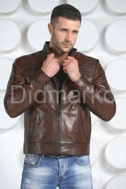 Мужская кожаная куртка 887