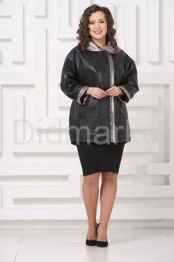 Удлиненная кожаная куртка Мелисса