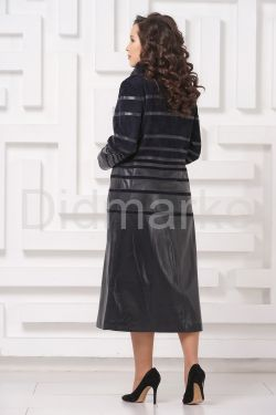 Элегантное кожаное пальто