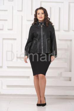 Женская кожаная куртка с отстрочкой