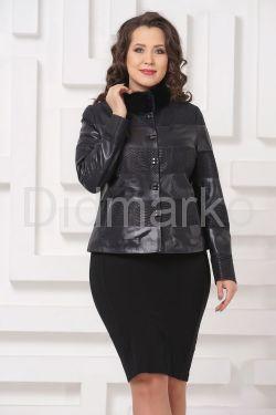 Комбинированная кожаная куртка Fashion Star