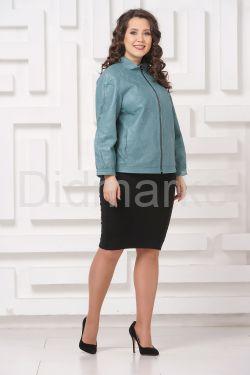 Перфорированная кожаная куртка DI ANNA