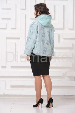 Комбинированная кожаная куртка с принтом