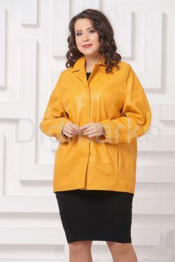 Яркий кожаный пиджак