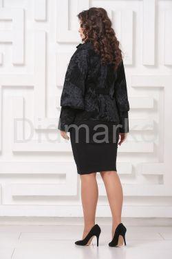 Замшевая куртка с принтом