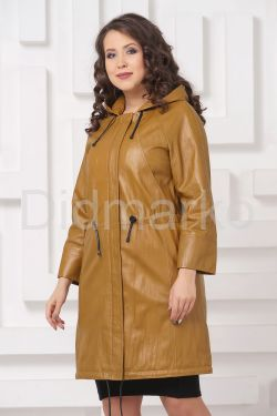 Женский кожаный плащ 2021
